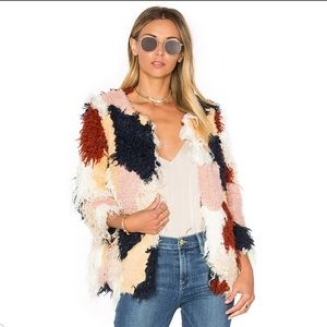Tularosa Pfeiffer Faux Fur Patchwork Coat Jacket